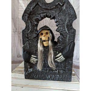 Gemmy talking tombstone skeleton reaper Halloween